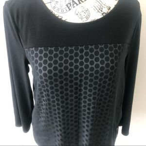 Chico's Black and white long sleeve  sz 0